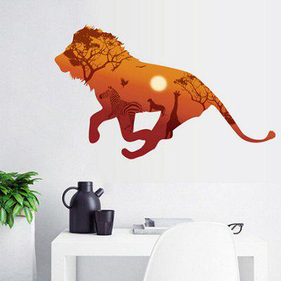 Running Lion Removable Waterproof Wall Sticker