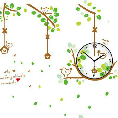 Buy COLORMIX Bird Nest Style Wall Clock Sticker for $8.78 in GearBest store