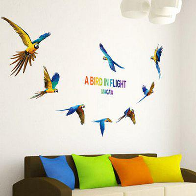 Buy COLORMIX Parrot DIY Home Decor Wallpaper Wall Sticker Mural for $5.74 in GearBest store