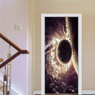Space Star DIY Home Decor Wallpaper Door Sticker Mural