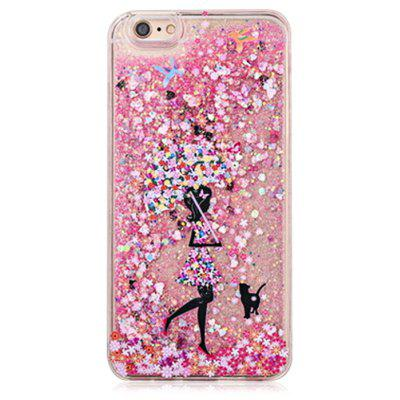 Buy COLOFUL Fascinating Glitter Powder Girl Phone Cover for iPhone 6 Plus / 6S Plus for $4.06 in GearBest store