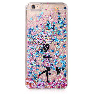 Buy COLOFUL Glitter Powder Girl Phone Cover for iPhone 6 Plus / 6S Plus for $4.06 in GearBest store