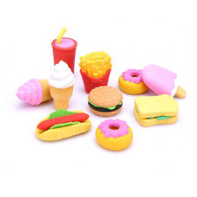 10pcs Mini Cute Shape Eraser