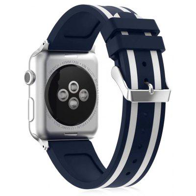 Silikon Well-Strick Athletic Uhrenarmband für Apple Watch