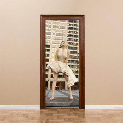 DM036 Stylish 3D Statue Door Sticker