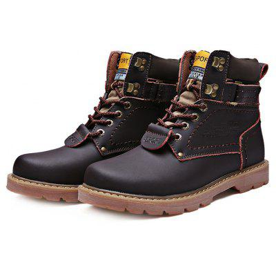 Men Plus Size High Top Martin Boots
