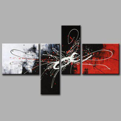 YHHP Canvas Oil Painting Abstract Art Hand Painted Home Decor