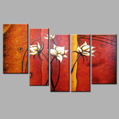 YHHP Canvas Oil Painting Flower Hand Painted