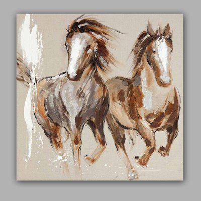Happy Art Canvas Oil Painting Horse Hand Painted Home Decor