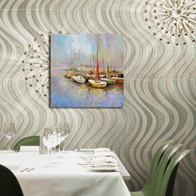 Happy Art Canvas Oil Painting Abstract Sailing Hand Painted Home Decor