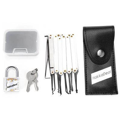 Buy SILVER HakkaDeal Lock Pick Practice Set with Transparent Padlock for $7.18 in GearBest store