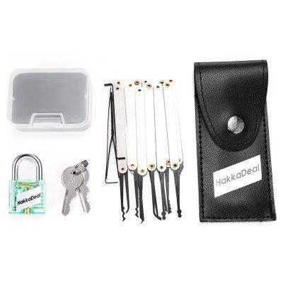 Buy GREEN HakkaDeal Lock Pick Practice Set with Transparent Padlock for $7.59 in GearBest store
