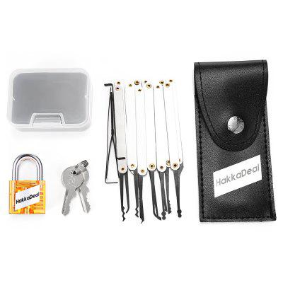 Buy ORANGE HakkaDeal Lock Pick Practice Set with Transparent Padlock for $7.39 in GearBest store
