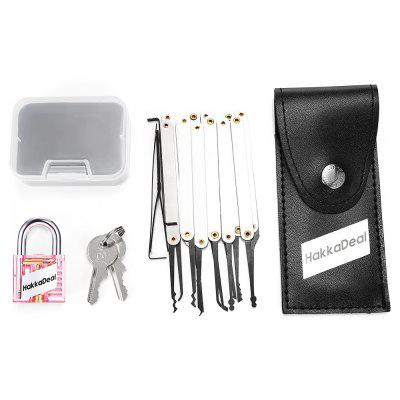 Buy RED HakkaDeal Lock Pick Practice Set with Transparent Padlock for $7.39 in GearBest store