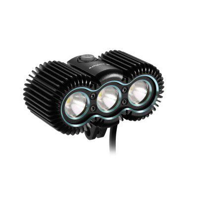 zanflare B3 3 LED Bike LightBike Lights<br>zanflare B3 3 LED Bike Light<br><br>Battery Included or Not: No<br>Body Material: Aluminium Alloy<br>Brand: zanflare<br>Emitters: XPL V5<br>Emitters Quantity: 3<br>Feature: Overheating Protection, Memory Function, Integrated Heat Dissipation Design, Constant Current Circuit, Charging indicator<br>Function: Night Riding<br>High Mode: 2H<br>Impact Resistance: 1.5M<br>LED Lifespan: 50,000H<br>Low Mode: 7H<br>Lumens Range: &gt;2000 Lumens<br>Mid Mode: 4.5H<br>Mode Memory: Yes<br>Model: B3<br>Output: Low: 450LM, Medium: 1300LM, High: 2200LM<br>Package Contents: 1 x B3 Bike Light, 1 x Handlebars Mount, 1 x Helmet Mount, 1 x Head Strap, 1 x Rubber Buckle, 1 x English Instruction Manual<br>Package size (L x W x H): 12.80 x 10.60 x 4.80 cm / 5.04 x 4.17 x 1.89 inches<br>Package weight: 0.2700 kg<br>Product size (L x W x H): 7.00 x 3.30 x 5.10 cm / 2.76 x 1.3 x 2.01 inches<br>Product weight: 0.1350 kg<br>Waterproof Standard: IP67