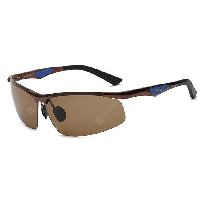 TEA-COLORED Karenheather JL3009 Male UV400 Polarized Cycling Glasses
