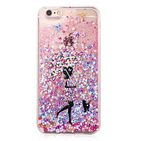 COLOFUL Glitter Powder and Pretty Girl Phone Cover for iPhone 6 / 6S