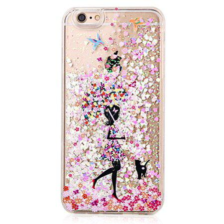 COLORMIX Painting Girl Theme Soft Case for iPhone 6 / 6S