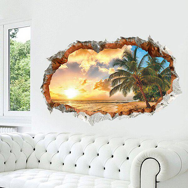 COLORFUL Beach DIY Home Decor Wallpaper Wall Sticker Mural