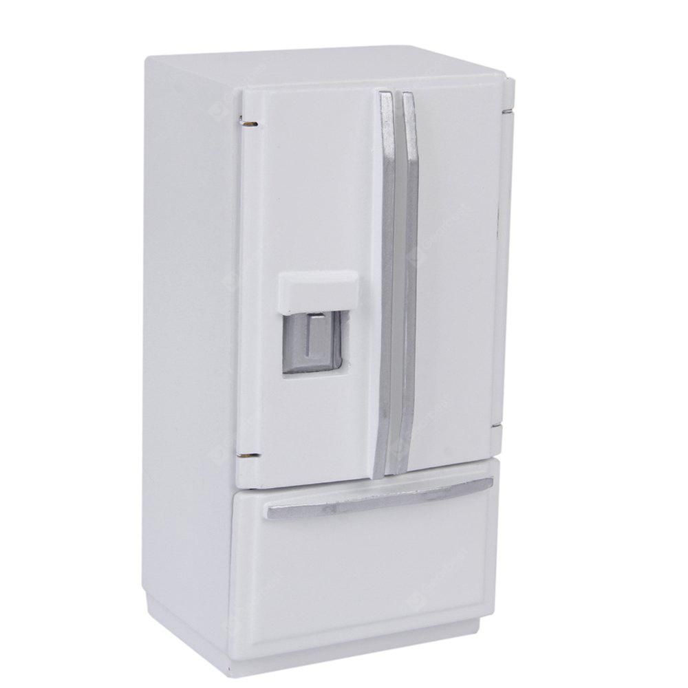 WHITE Miniature Wooden Fridge