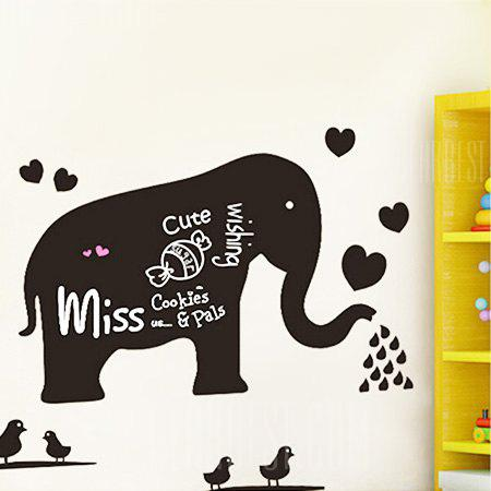 BLACK Elephant Blackboard DIY Home Decor Wallpaper Wall Sticker