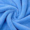 CARSETCITY 2PCS Coral Fleece Microfiber Towel - GRAY AND BLUE