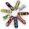 Mini Desktop Toy Skateboard with Various Pictures - COLORMIX