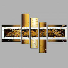 5PCS YHHP Canvas Oil Painting Abstract Hand Painted