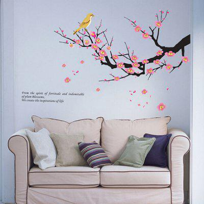PVC Removable Wall Sticker Beautiful Plum Blossoms