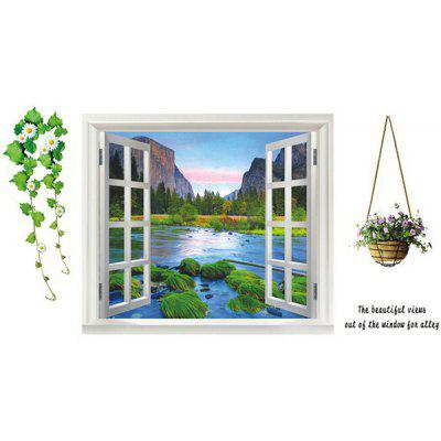 Removable Wall Sticker Beautiful Views out of Window