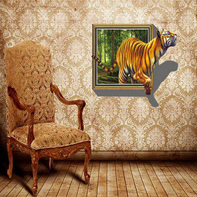 3D Effect Removable Wall Sticker PVC Vivid Effect of Big Tiger