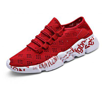 Buy RED Breathable Character Printed Shoes for Men for $29.09 in GearBest store
