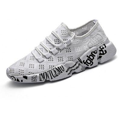 Buy WHITE Breathable Character Printed Shoes for Men for $29.09 in GearBest store