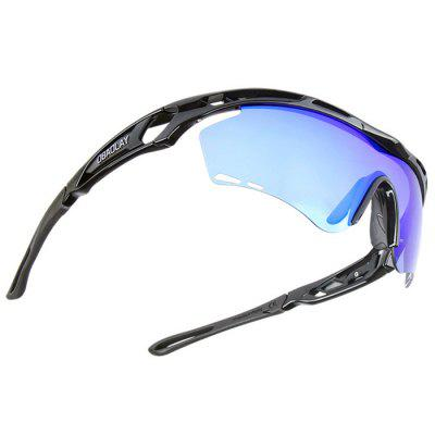 SP0908 Protective Polarized Lens Cycling GlassesCycling Sunglasses<br>SP0908 Protective Polarized Lens Cycling Glasses<br><br>Brand: OBAOLAY<br>Features: Anti-UV, Polarized lens, Replaceable Lens<br>Gender: Unisex<br>Package Contents: 1 x Cycling Glasses, 1 x Lens, 1 x Box, 1 x Lanyard, 1 x Cleaning Cloth, 1 x Storage Bag, 1 x Frame, 1 x Polarized Test Card<br>Package Size(L x W x H): 20.00 x 11.00 x 8.00 cm / 7.87 x 4.33 x 3.15 inches<br>Package weight: 0.2200 kg<br>Product Size(L x W x H): 15.40 x 13.50 x 4.50 cm / 6.06 x 5.31 x 1.77 inches<br>Product weight: 0.0300 kg<br>Suitable for: Hiking, Cycling, Traveling