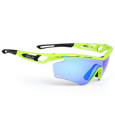 Buy GREEN AND BLUE SP0908 Protective Polarized Lens Cycling Glasses for $22.58 in GearBest store