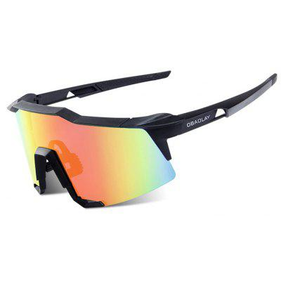Buy BLACK OBAOLAY S100 Protective Polarized Lens Cycling Glasses for $17.38 in GearBest store