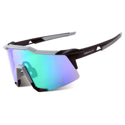 Buy BLUE AND BLACK OBAOLAY S100 Protective Polarized Lens Cycling Glasses for $26.28 in GearBest store