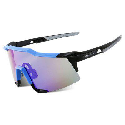 Buy BLUE WITH BLACK OBAOLAY S100 Protective Polarized Lens Cycling Glasses for $17.10 in GearBest store