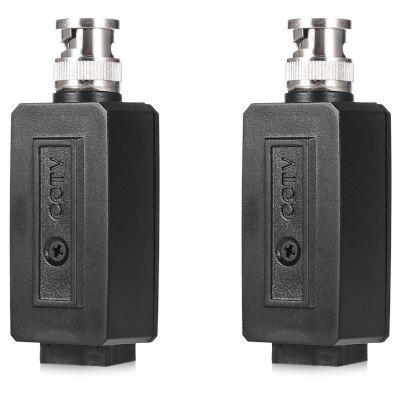 2pcs Passive Video Balun Twisted Pair Transceiver