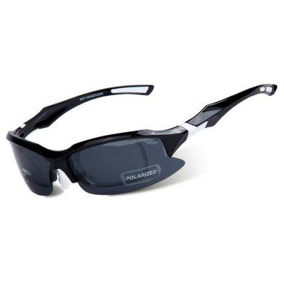 OBAOLAY SP0879 Protective Polarized Lens Cycling Glasses  -  BLACK AND WHITE