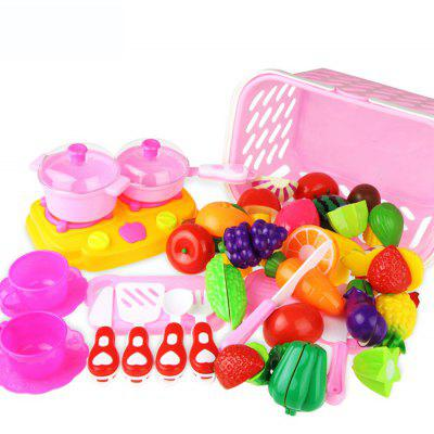 37pcs Cutting Fruit Vegetable Kitchen Pretend Play Toy