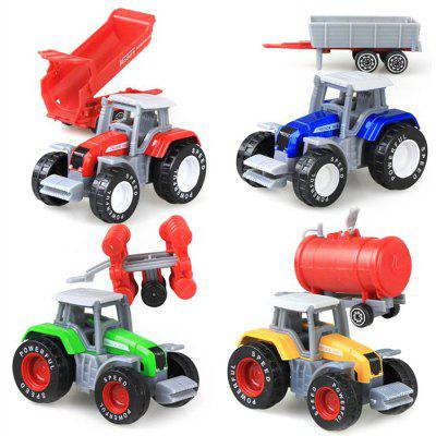4pcs / set 1:64 Mini Farm Tractor
