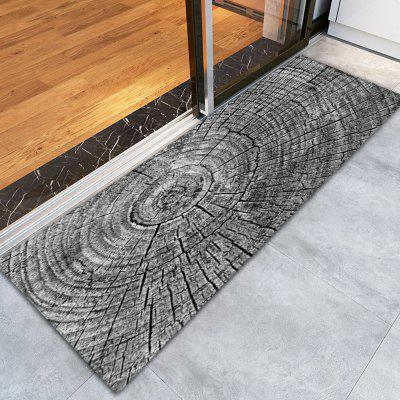 Buy BLACK AND GREY 3D Printing Growth Ring Pattern Non-Slip Floor Carpet for $12.58 in GearBest store