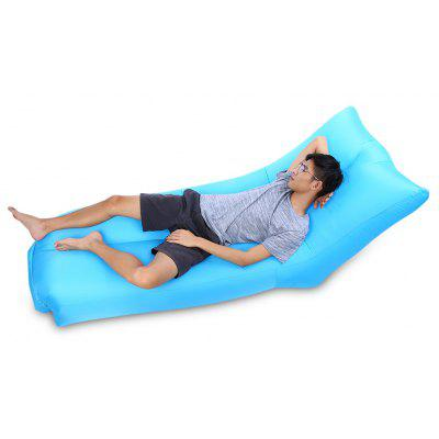 Portable 200kg Loading Inflatable Sofa Bed with Back Pillow