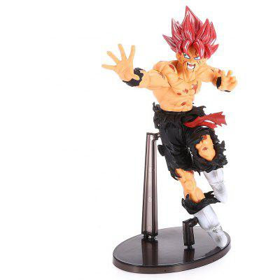 Red-haired Fighting Man PVC Action Figure Toy