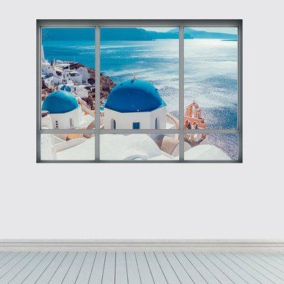 3D Santorini Island Wall Sticker
