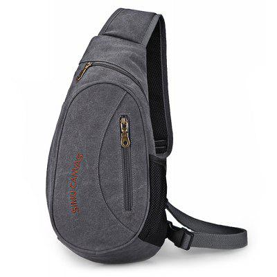 Buy LIGHT GREY SIMU Outdoor Multifunctional Shoulder Bag for Men for $21.39 in GearBest store