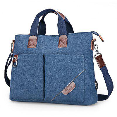 Buy BLUE SIMU Nylon Canvas Business Handbag for $38.60 in GearBest store