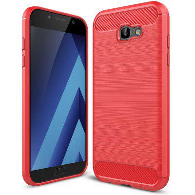 Buy RED Luanke Brushed Lines Case for Samsung Galaxy A7 for $5.62 in GearBest store