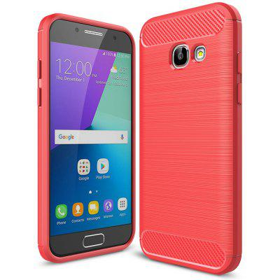 Buy RED Luanke Brushed Lines Case for Samsung Galaxy A3 / 320 for $5.53 in GearBest store